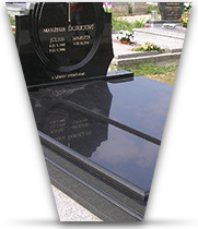 Gravestones and memorial sets