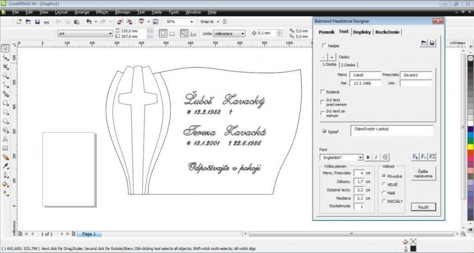 Batmend Headstone Designer